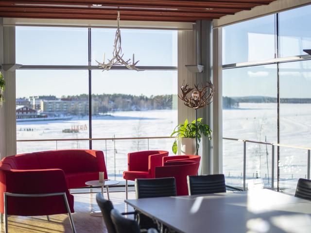Konferensrum på Kulturens hus med utsikt över Norra Hamn