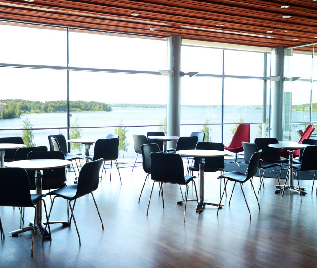 Konferensyta Loungen i Kulturens hus med utsikt över Norra hamn